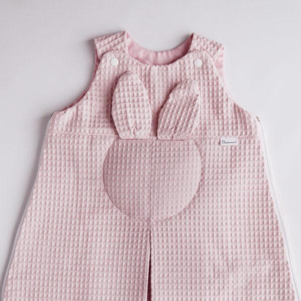Rabbit dream -wiosenny śpiworek -różowy